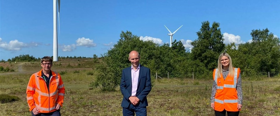 at rare upland heath planned for Banks Renewables wind farm site